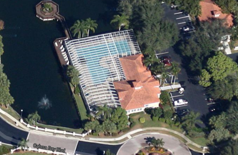 Lap pool in Calusa Bay in Naples, Florida.