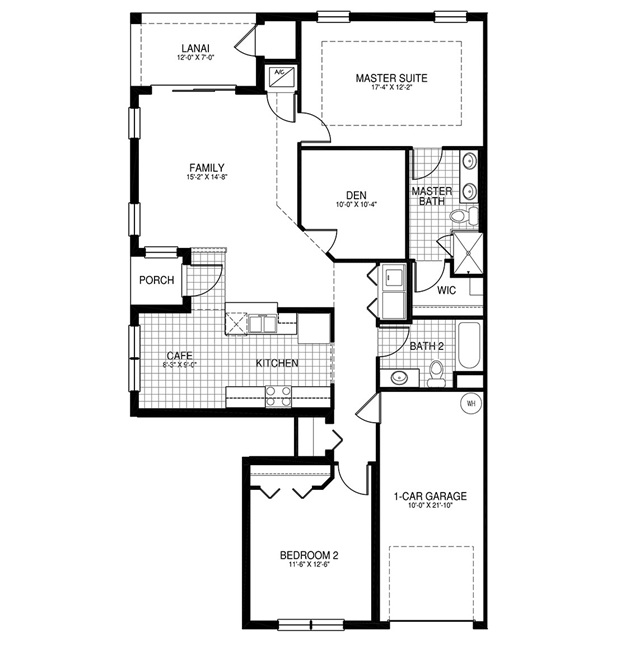 Capri floor plan sorrento new construction in bonita for Capri floor plan