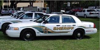 Squad car from the Collier County Sheriff's Office