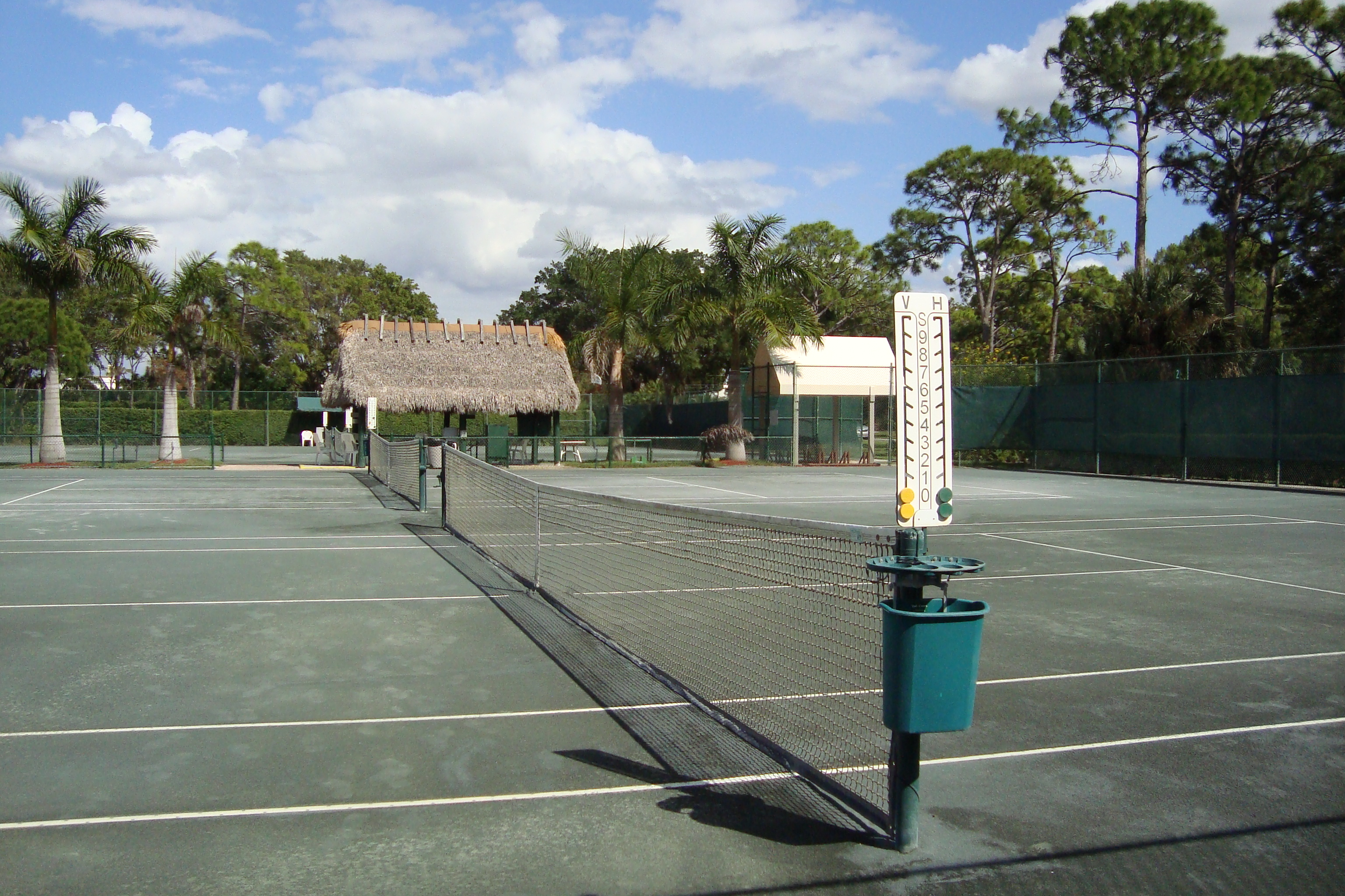 Tennis courts at Bay Forest in Naples, Florida.