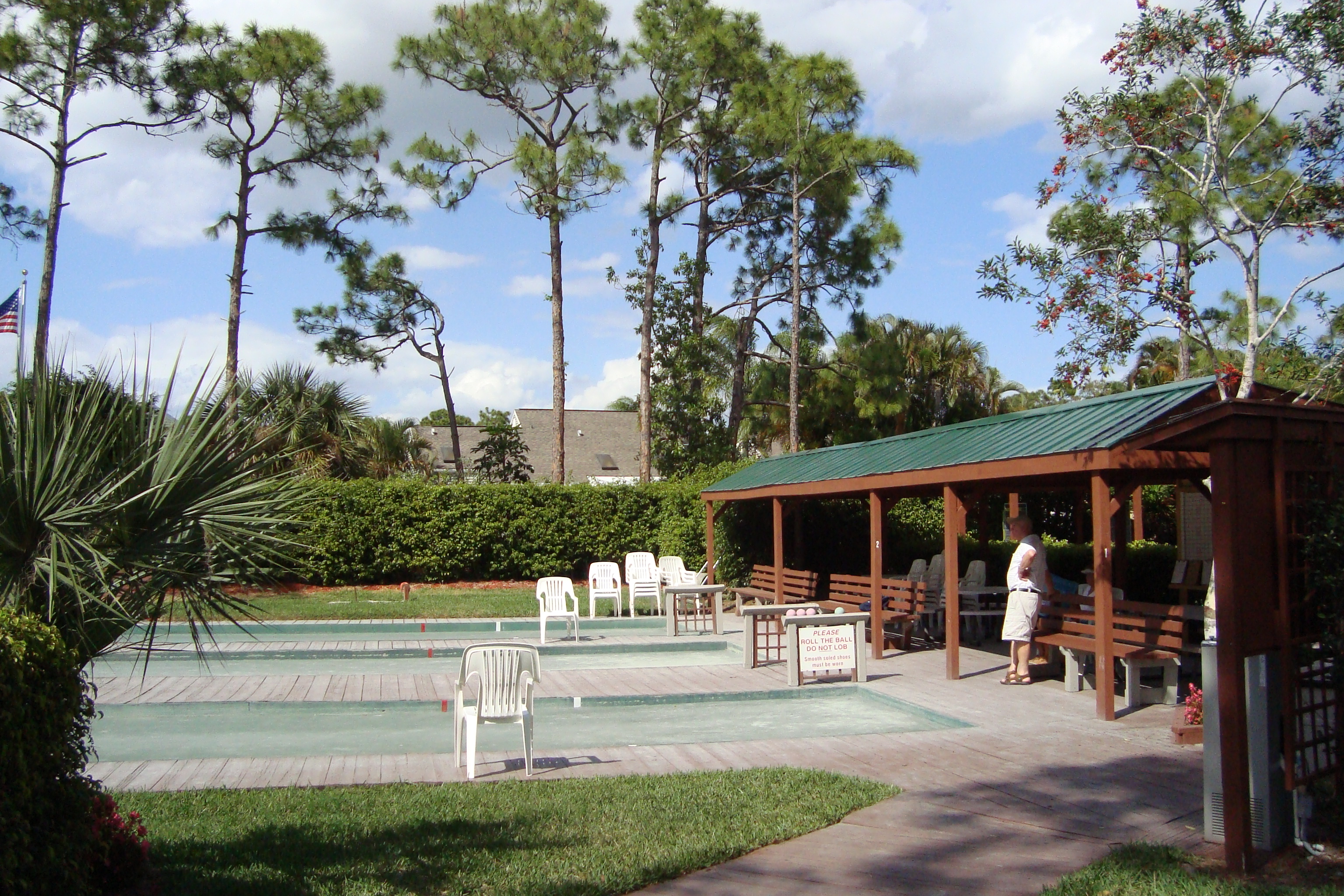 Bocci Ball Courts at Bay Forest in Naples, Florida.