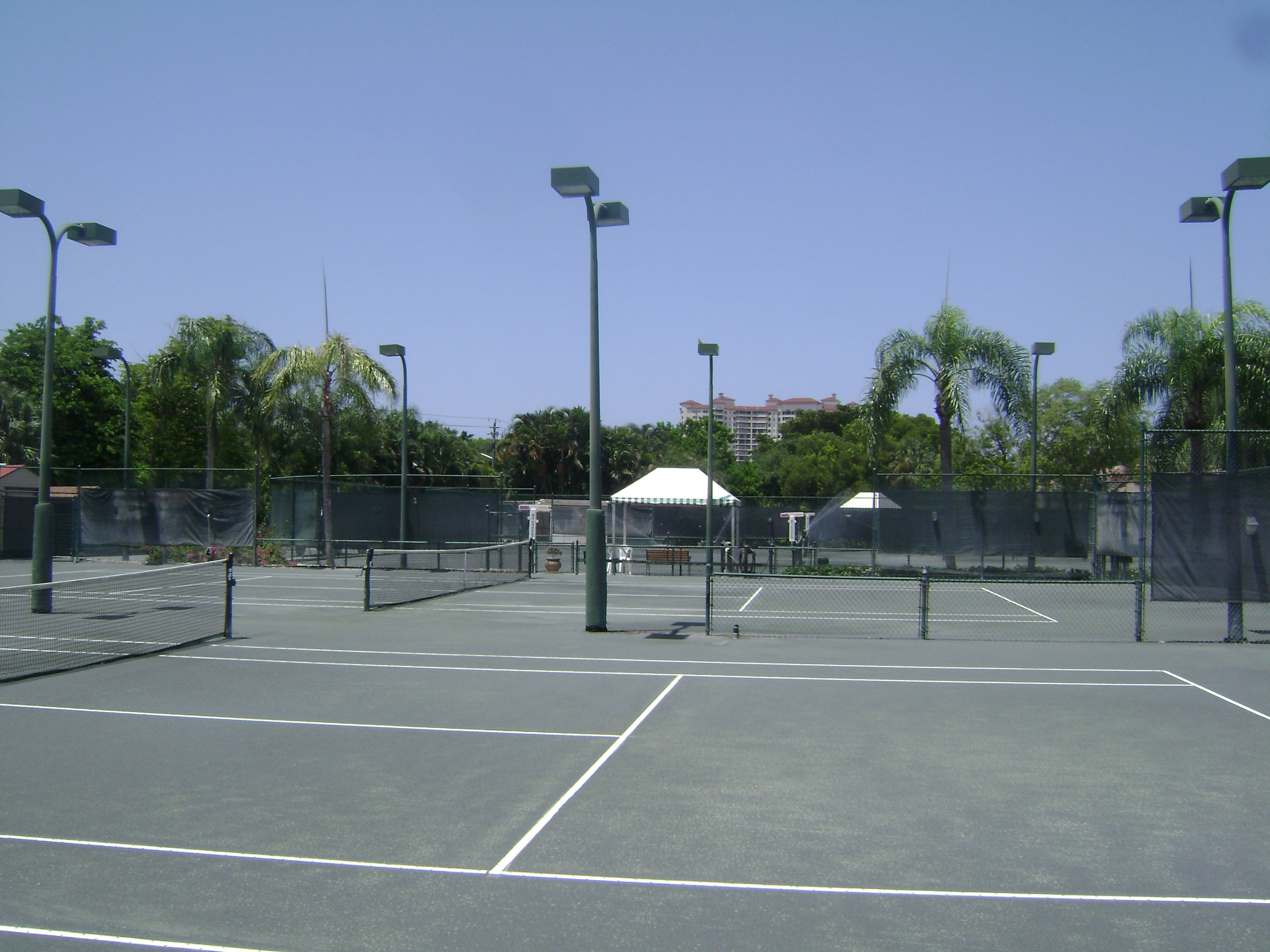 Tennis courts at Beachwalk in Naples, Florida.