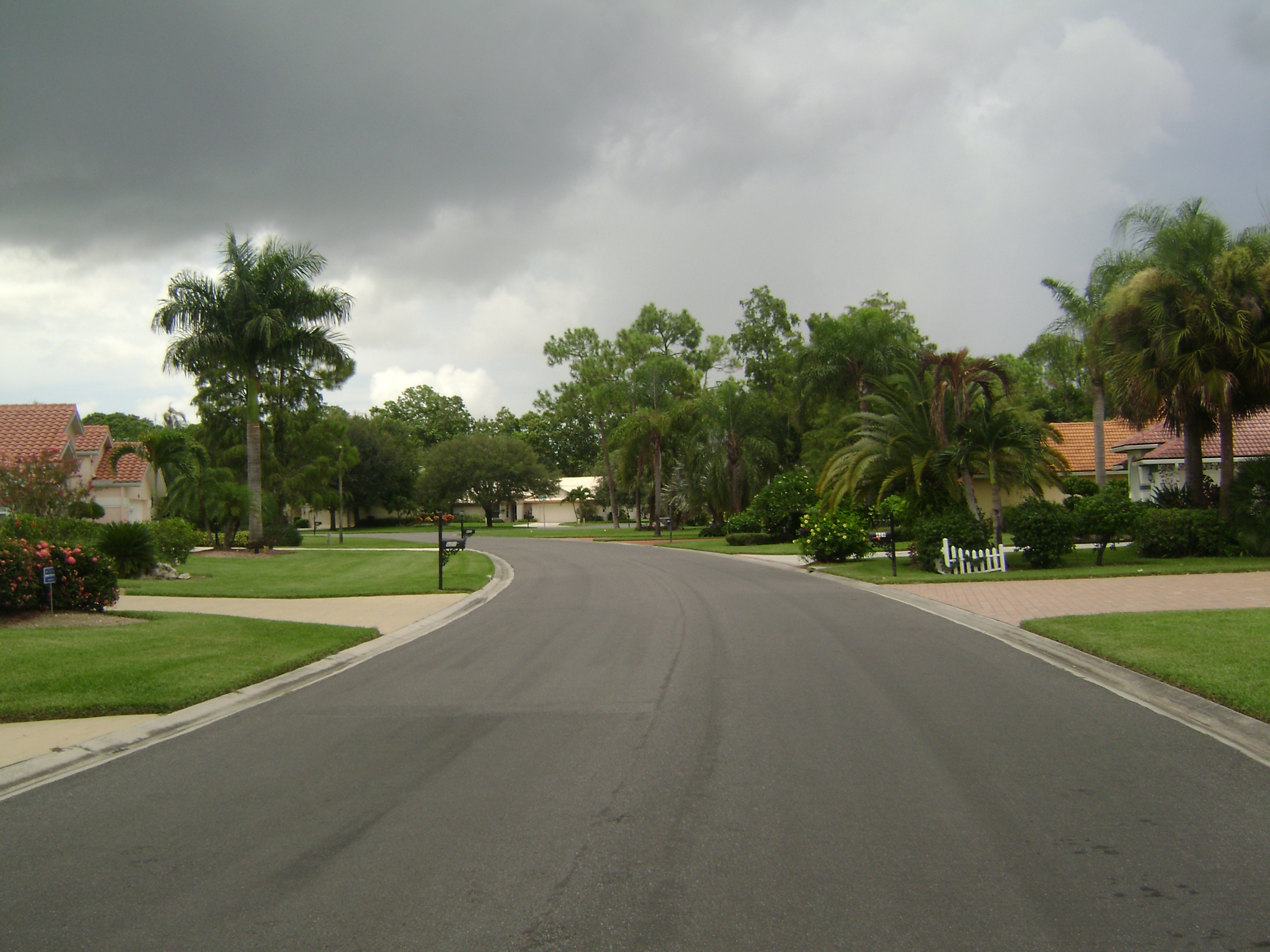Roadway at Berkshire Lakes in Naples, Florida.