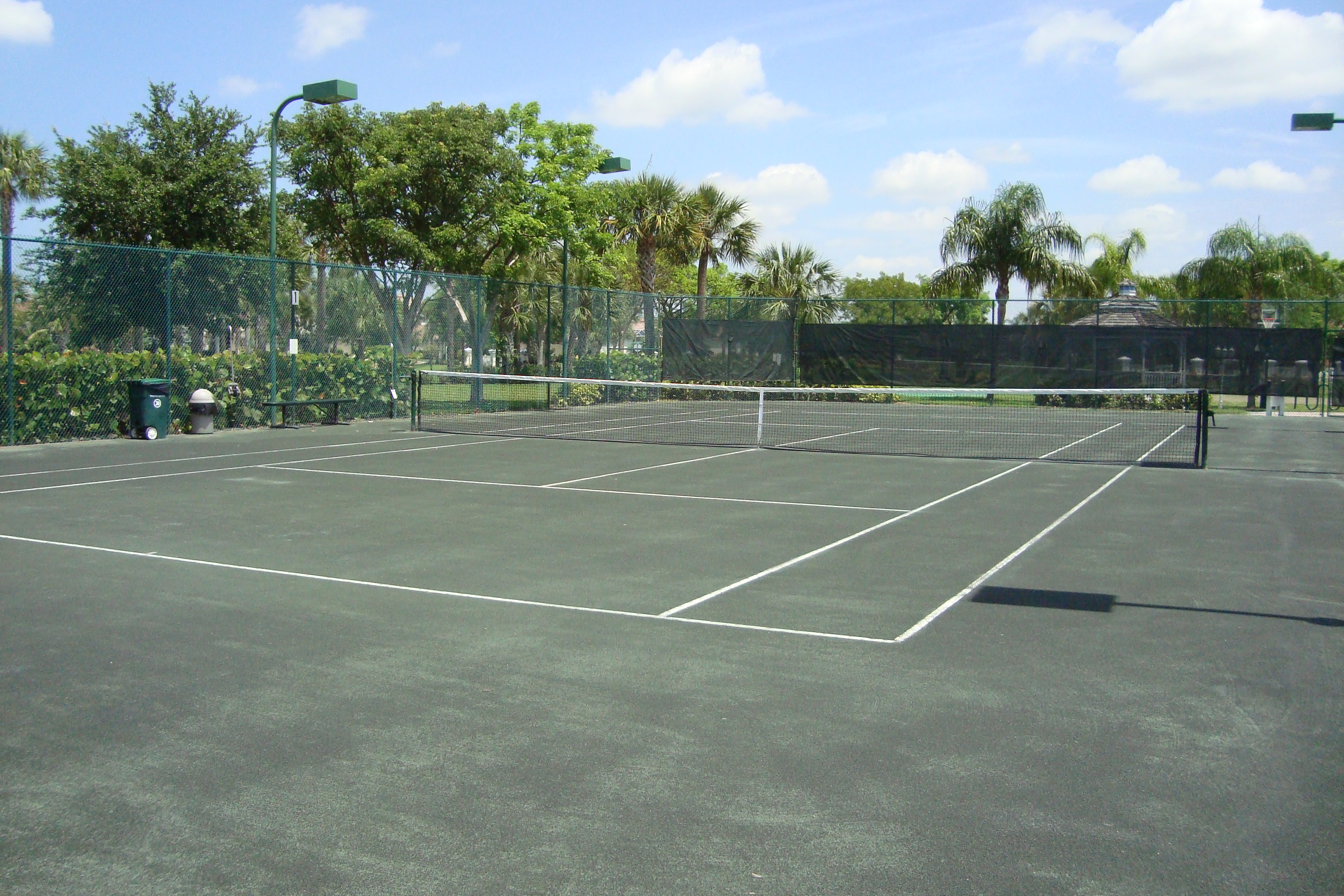 Tennis courts at Bridgewater Bay in Naples, Florida.