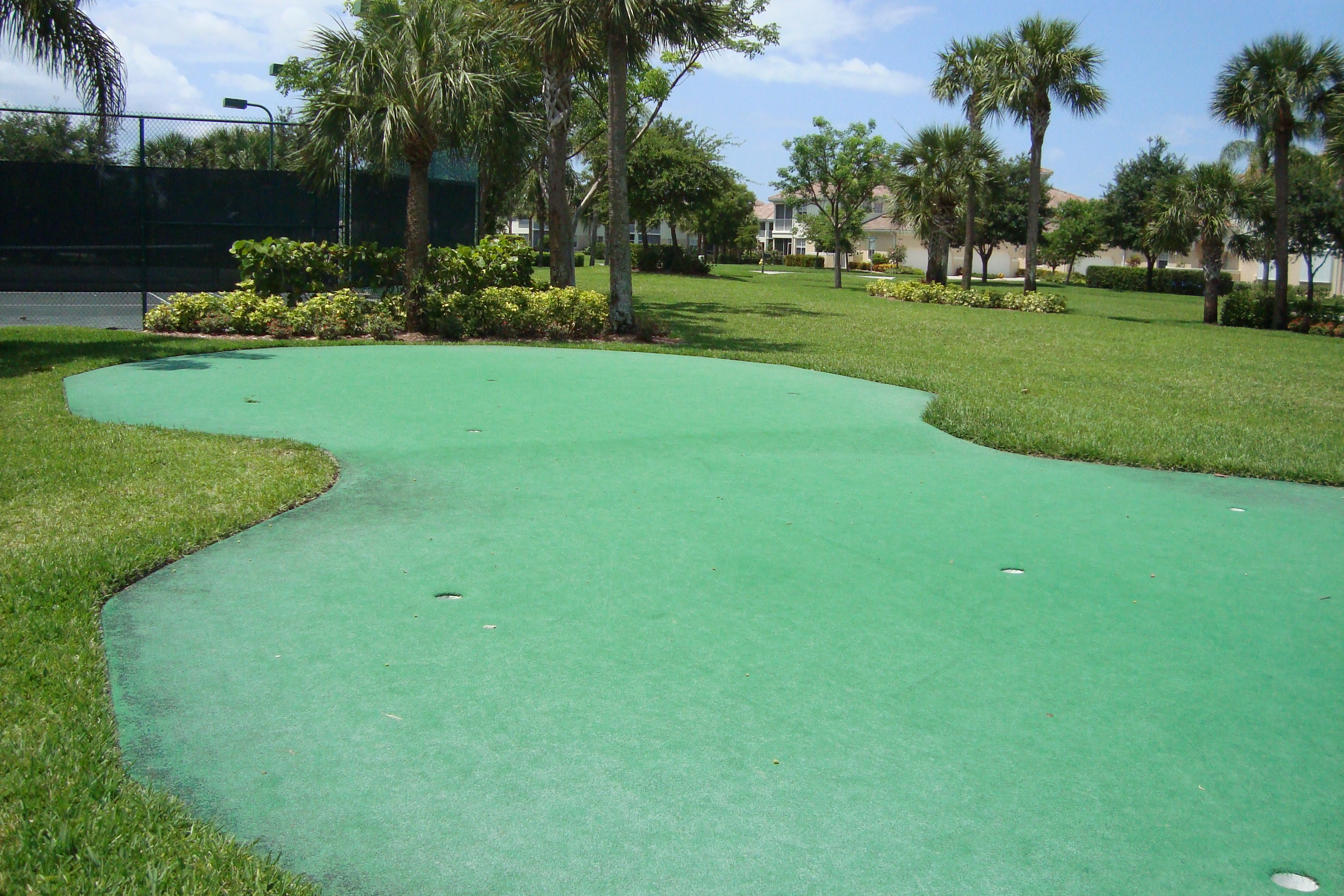 Putting green at Bridgewater Bay in Naples, Florida.
