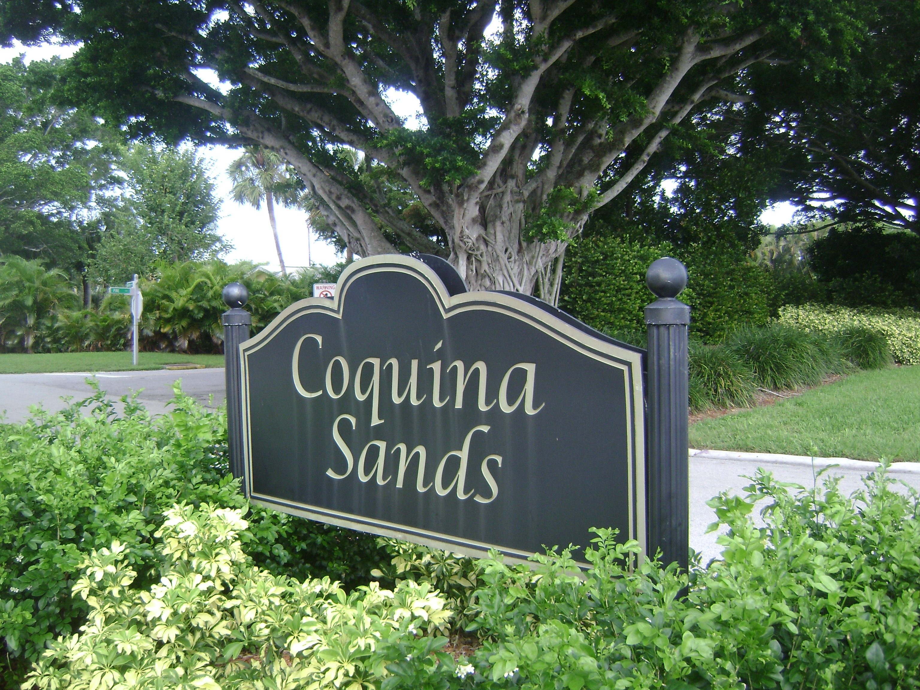Sign at Coquina Sands in Naples, Florida.