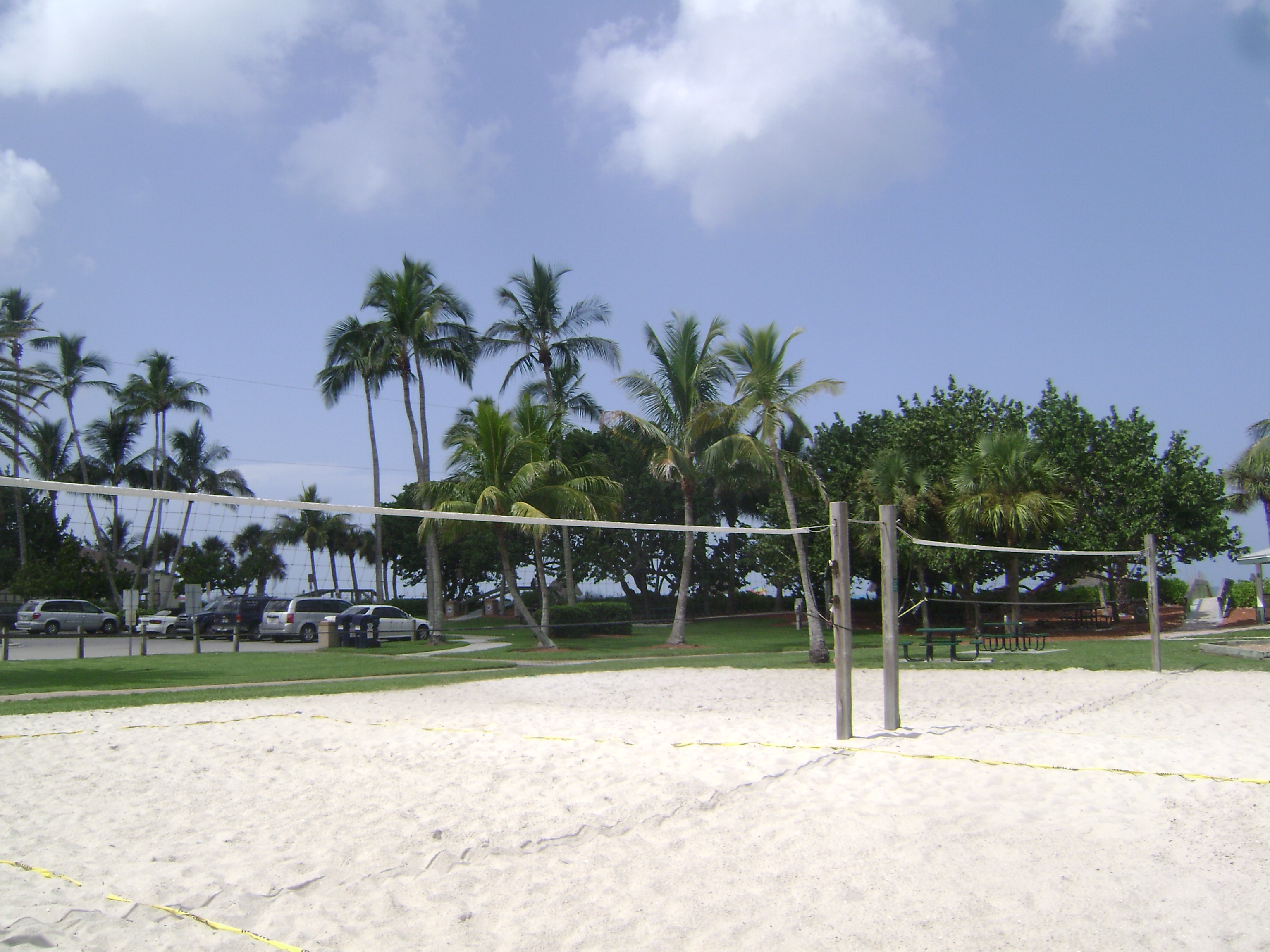 Volleyball at Coquina Sands in Naples, Florida.