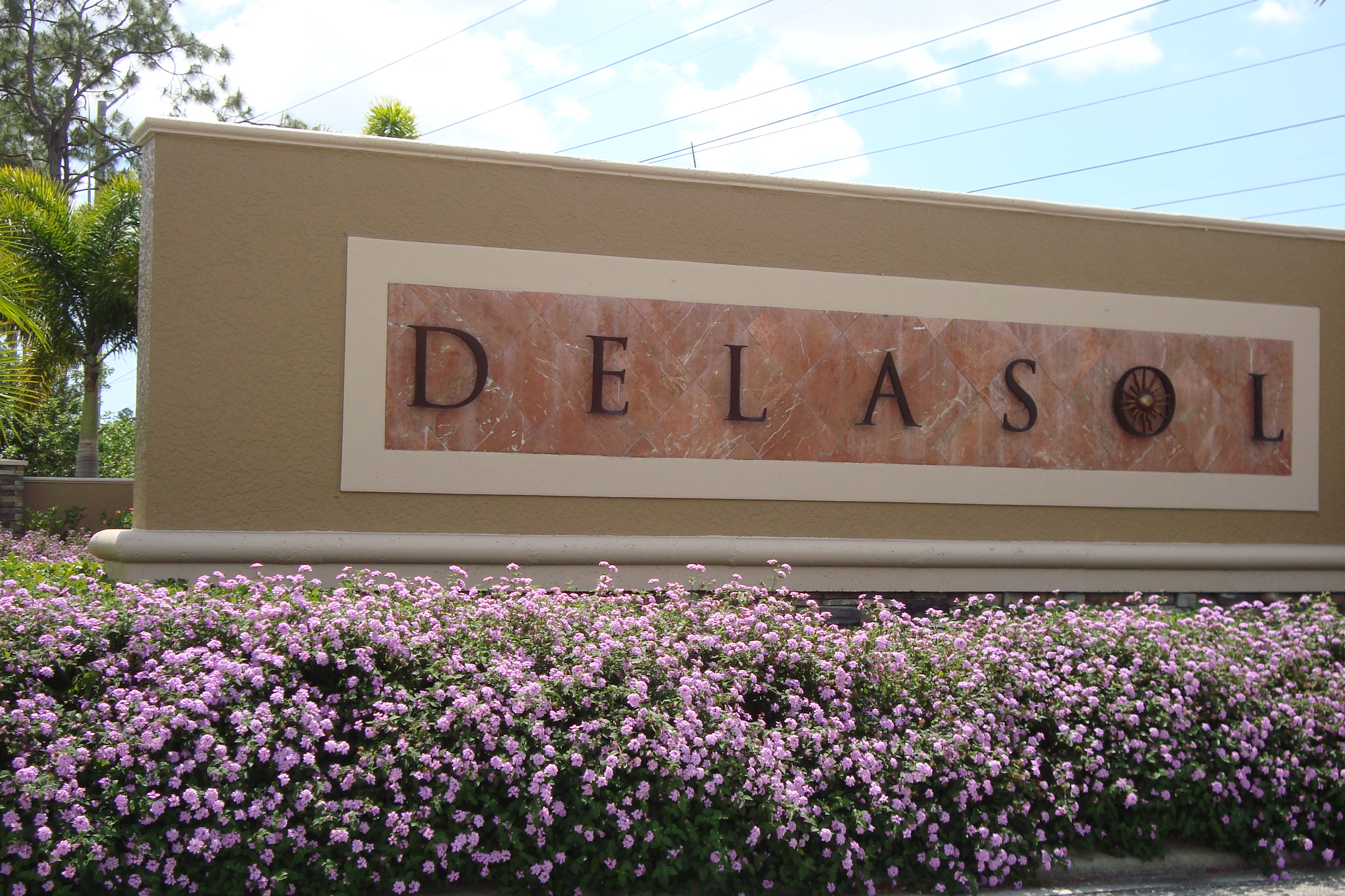 Sign at Delasol in Naples, Florida.