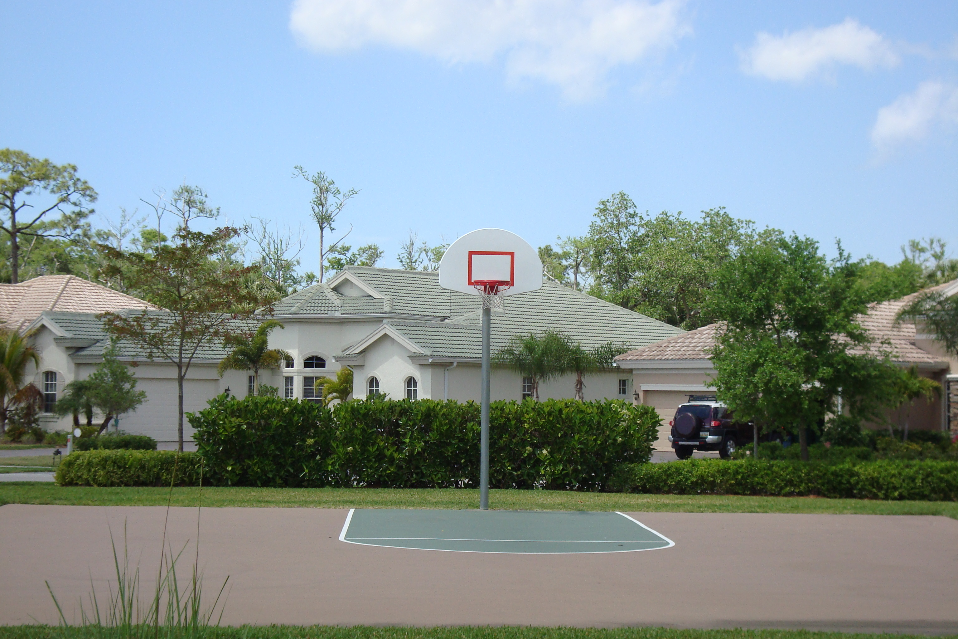 Basketball Court at Delasol in Naples, Florida.