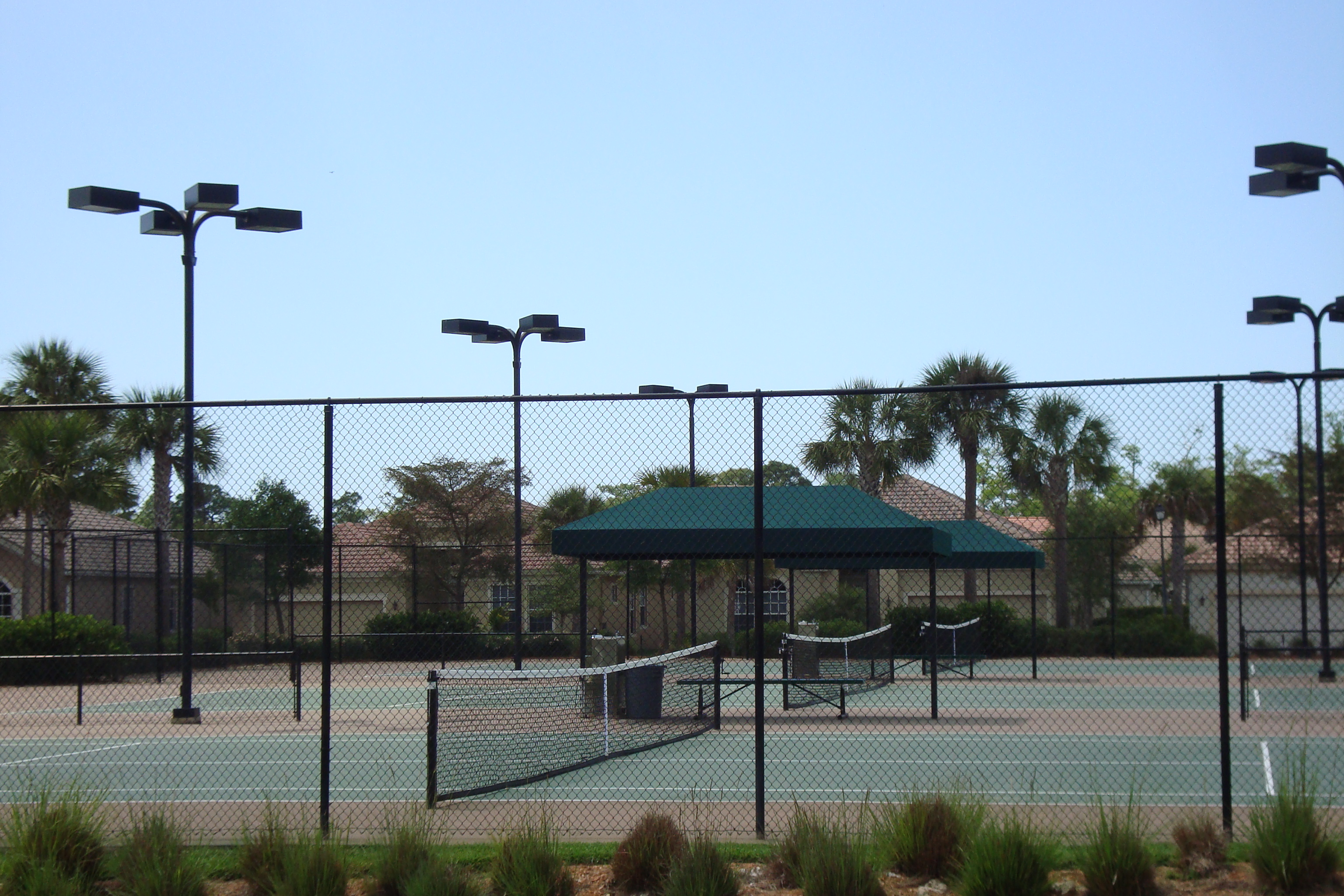 Tennis Court at Delasol in Naples, Florida.