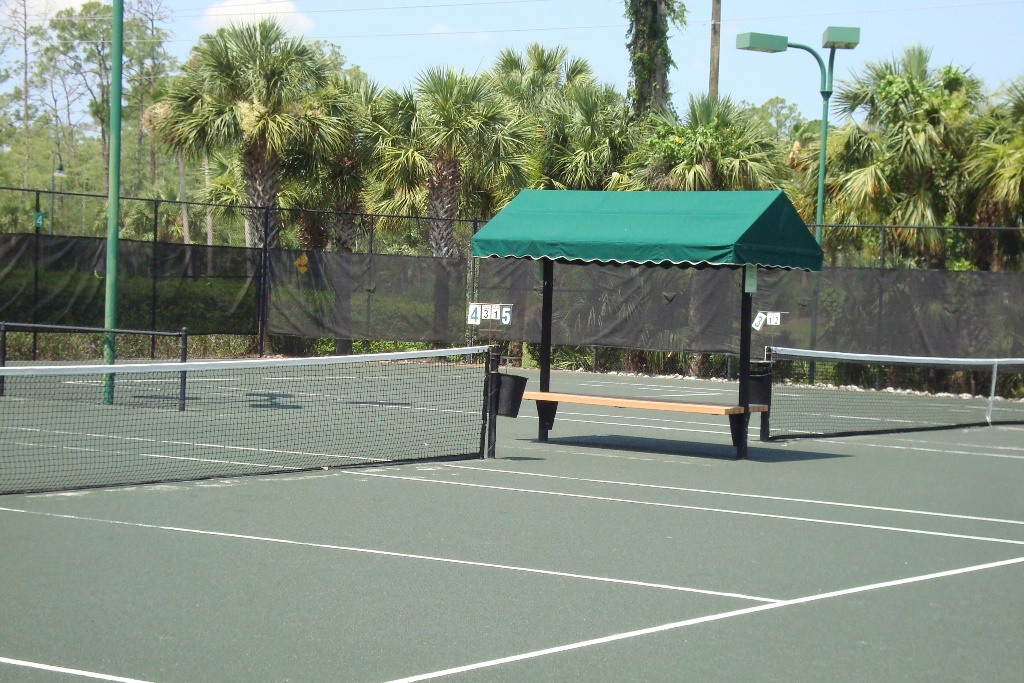 Tennis courts at Forest Glen in Naples, Florida.