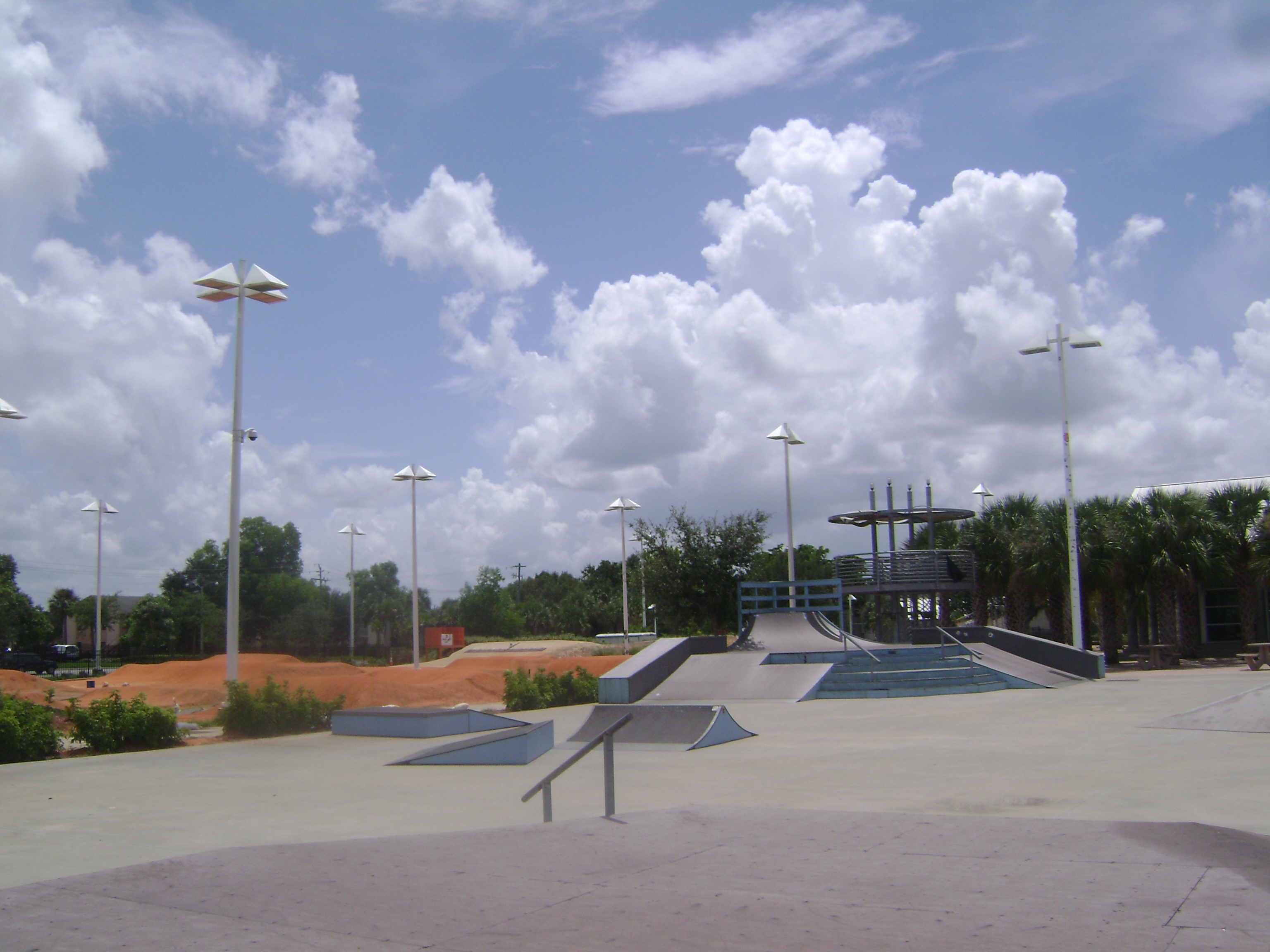 Skate park at Golden Gate City in Naples, Florida.