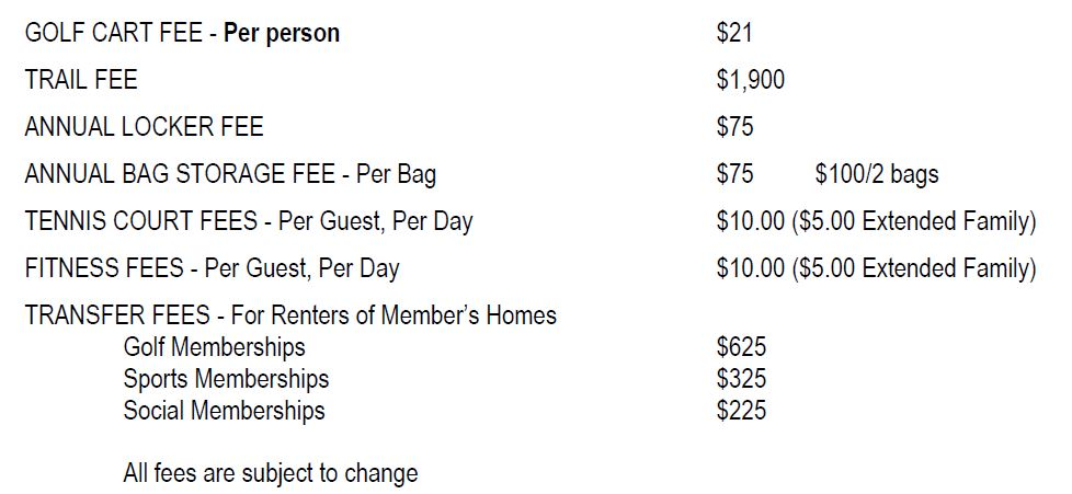 Golf fees for Grandezza in Naples, Florida.