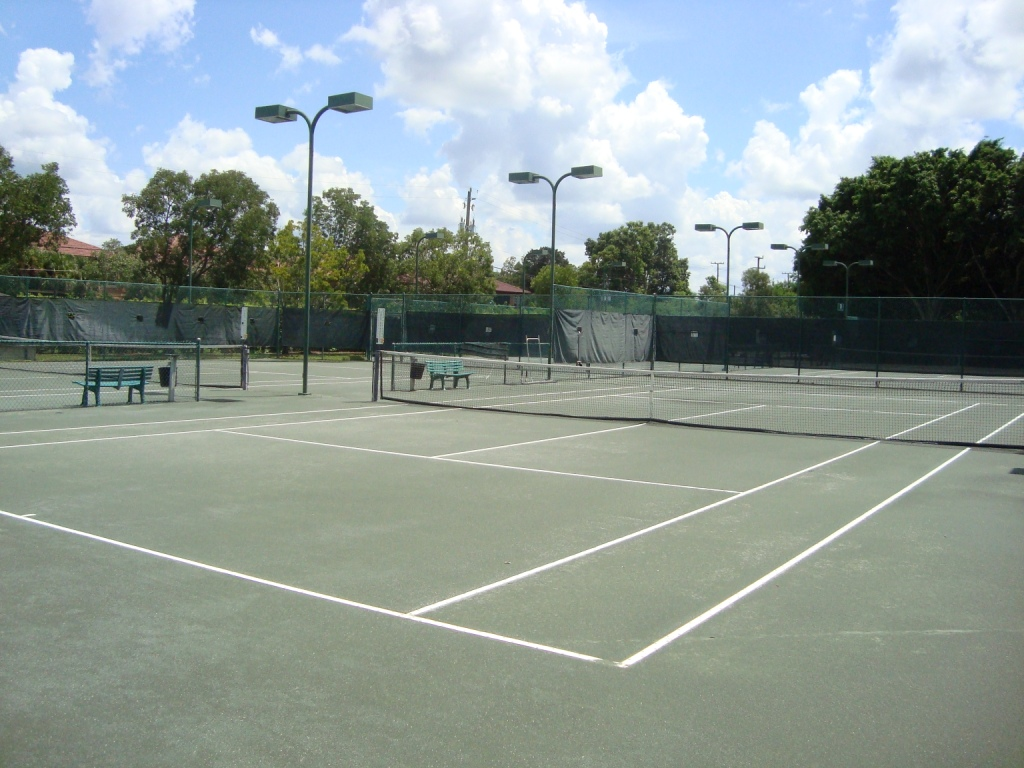 Tennis court at Huntington Lakes in Naples, Florida.
