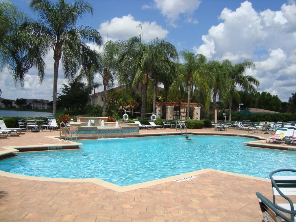 Pool at Huntington Lakes in Naples, Florida.