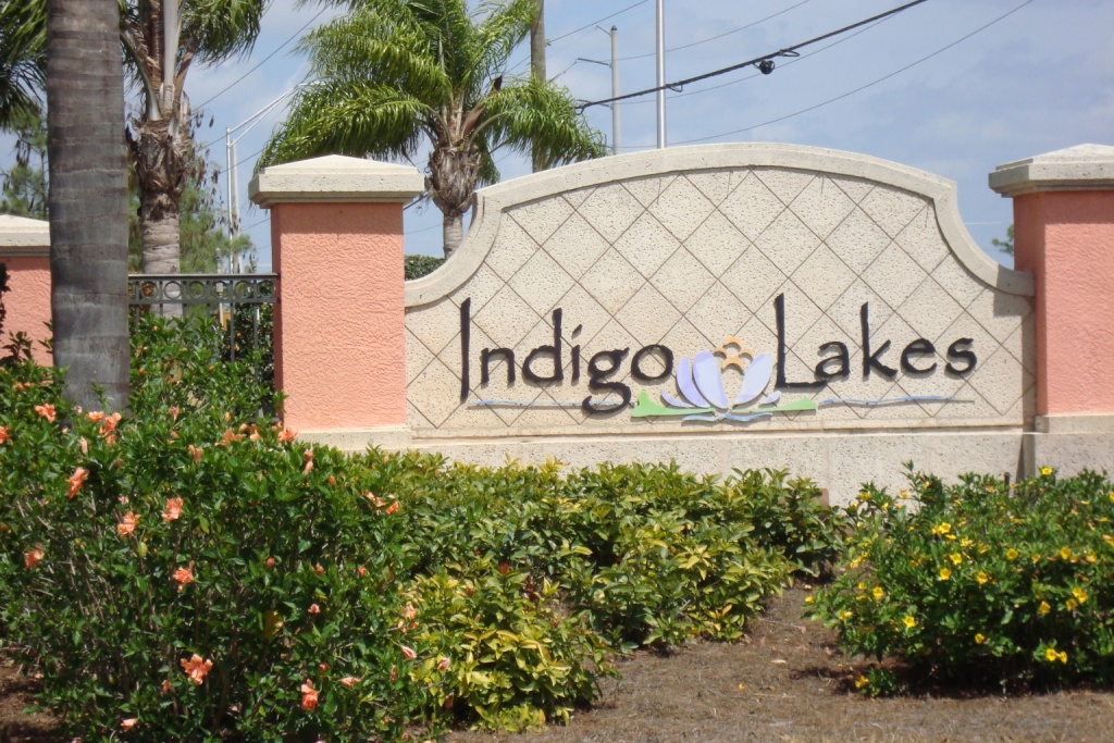 Sign at Indigo Lakes in Naples, Florida.