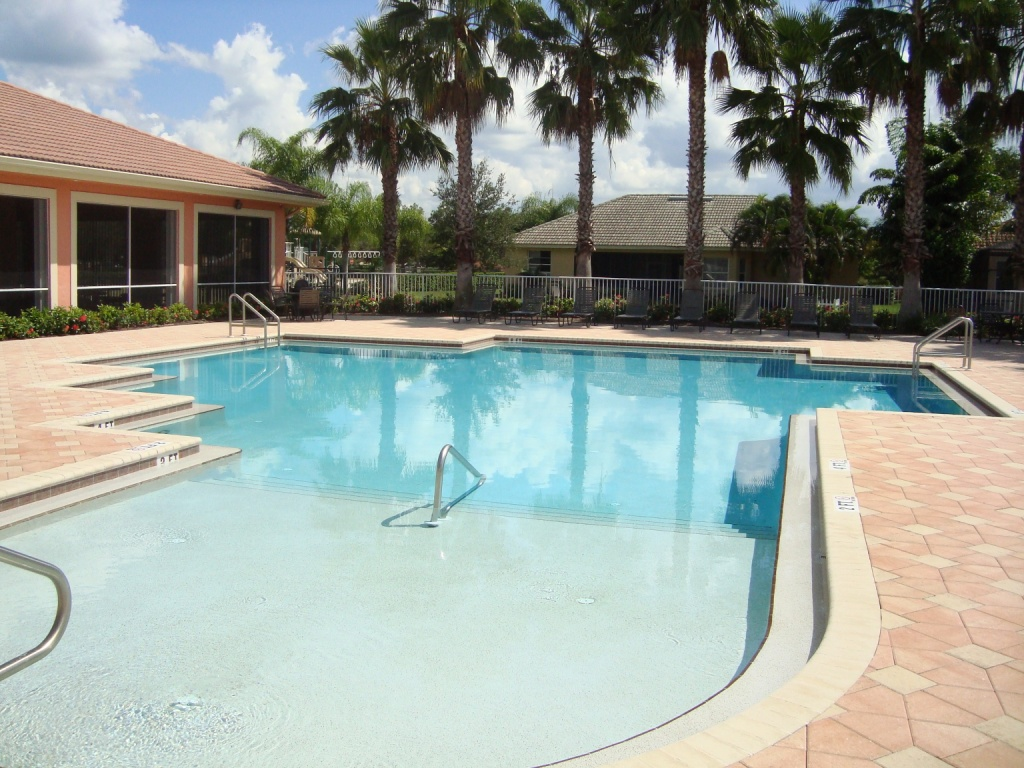 Pool at Indigo Lakes in Naples, Florida.