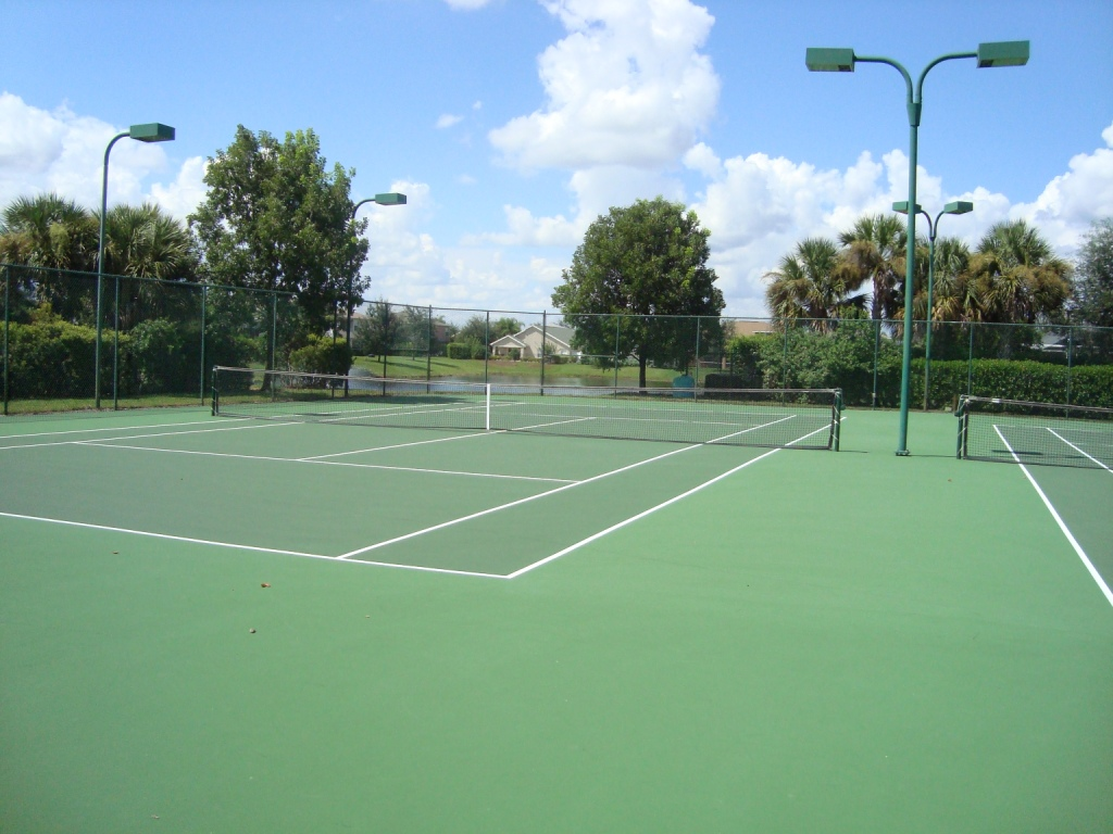 Tennis Court at Indigo Lakes in Naples, Florida.