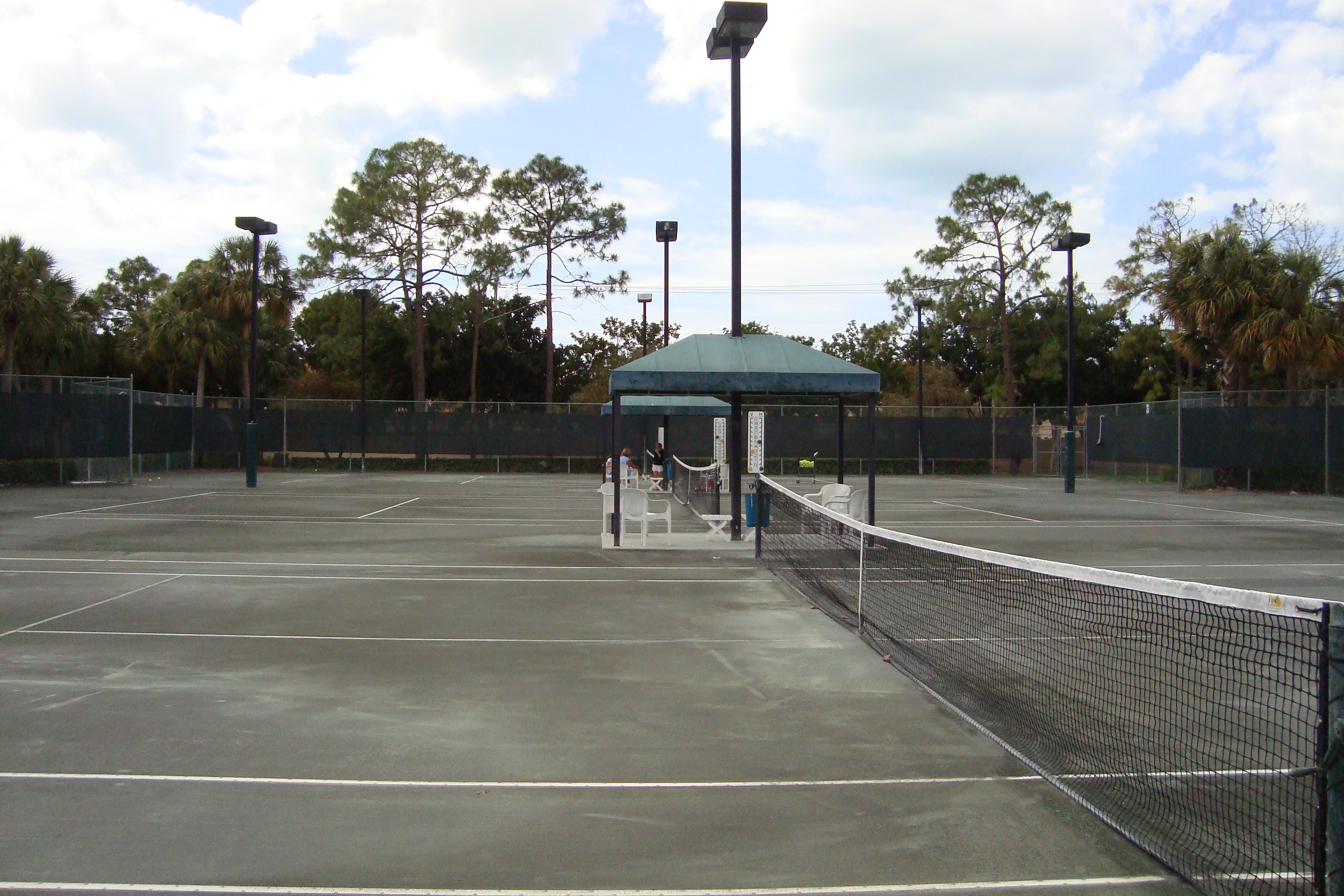 Tennis Court at Monterey in Naples, Florida.