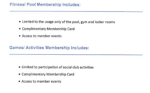 Amenities for other membership types at Naples Bath and Tennis in Naples, Florida.