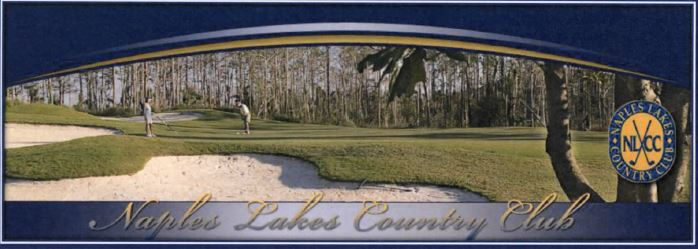 Country club header for Naples Lakes in Naples, Florida.