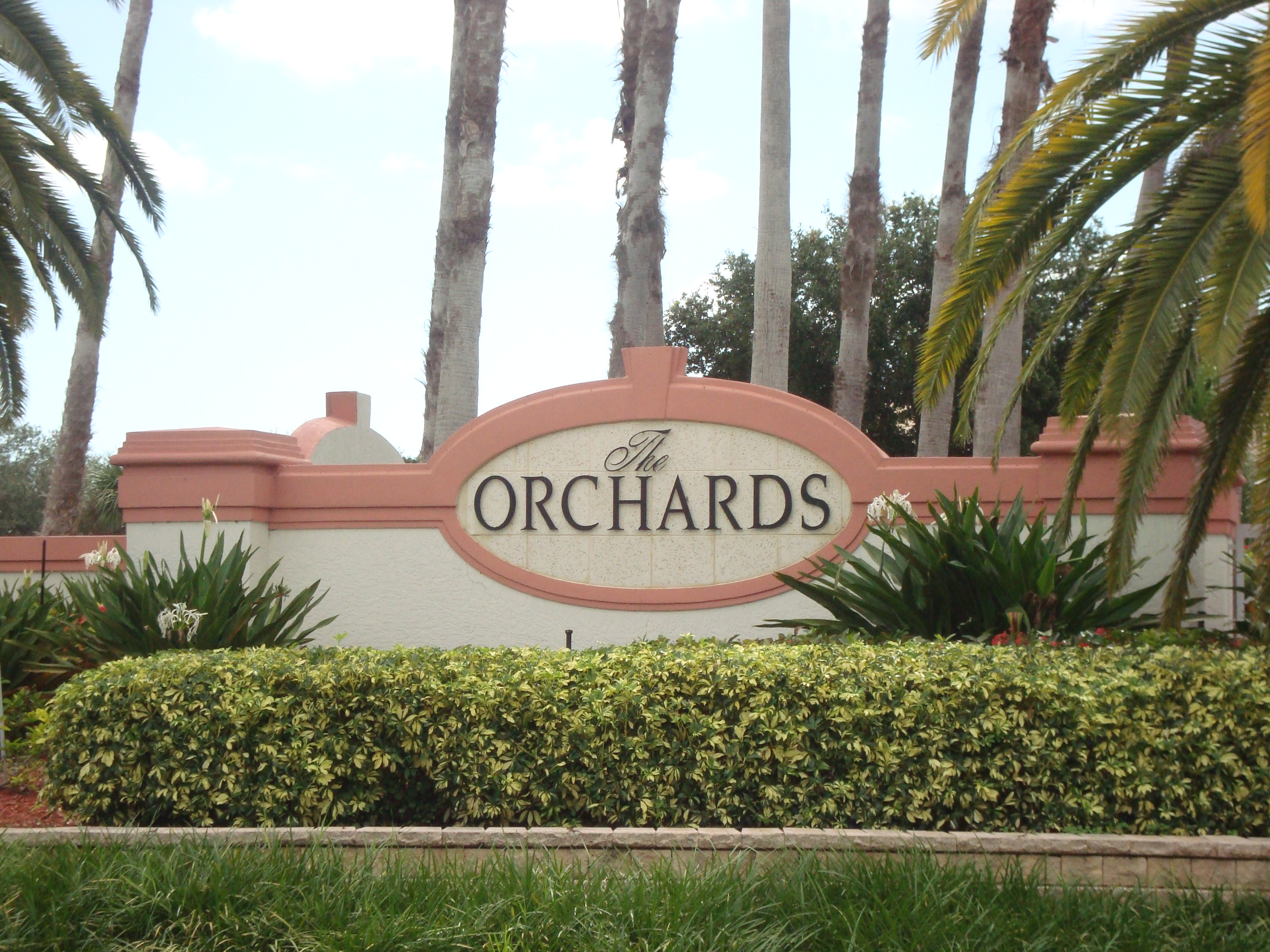 Sign at Orchard in Naples, Florida.