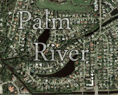 Map of Palm river in Naples, Florida.