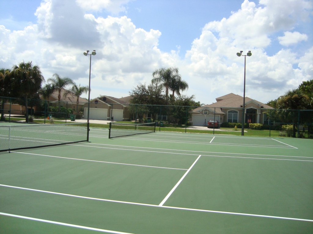 Tennis courts at Pebblebrooke Lakes in Naples, Florida.