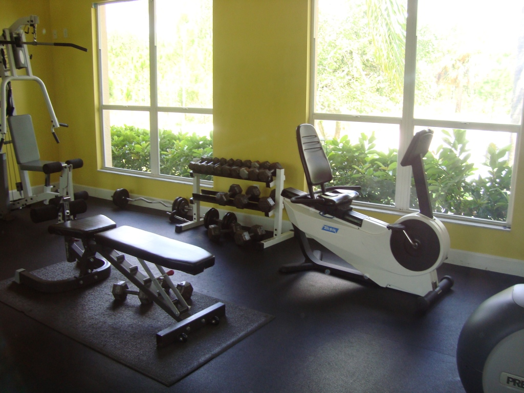 Fitness center at Pebblebrooke Lakes in Naples, Florida.