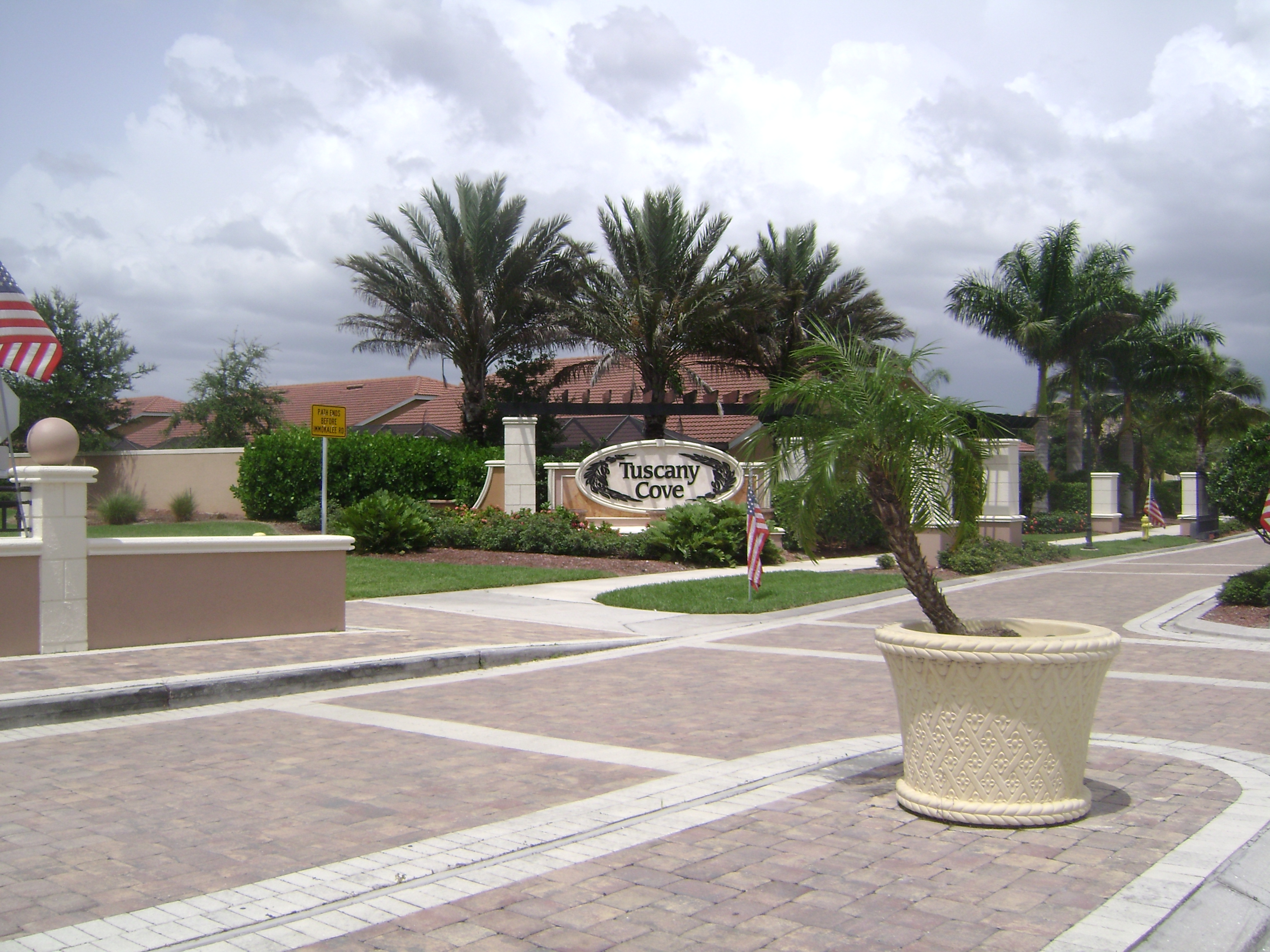 Entrance to Tuscany Cove in Naples, Florida.