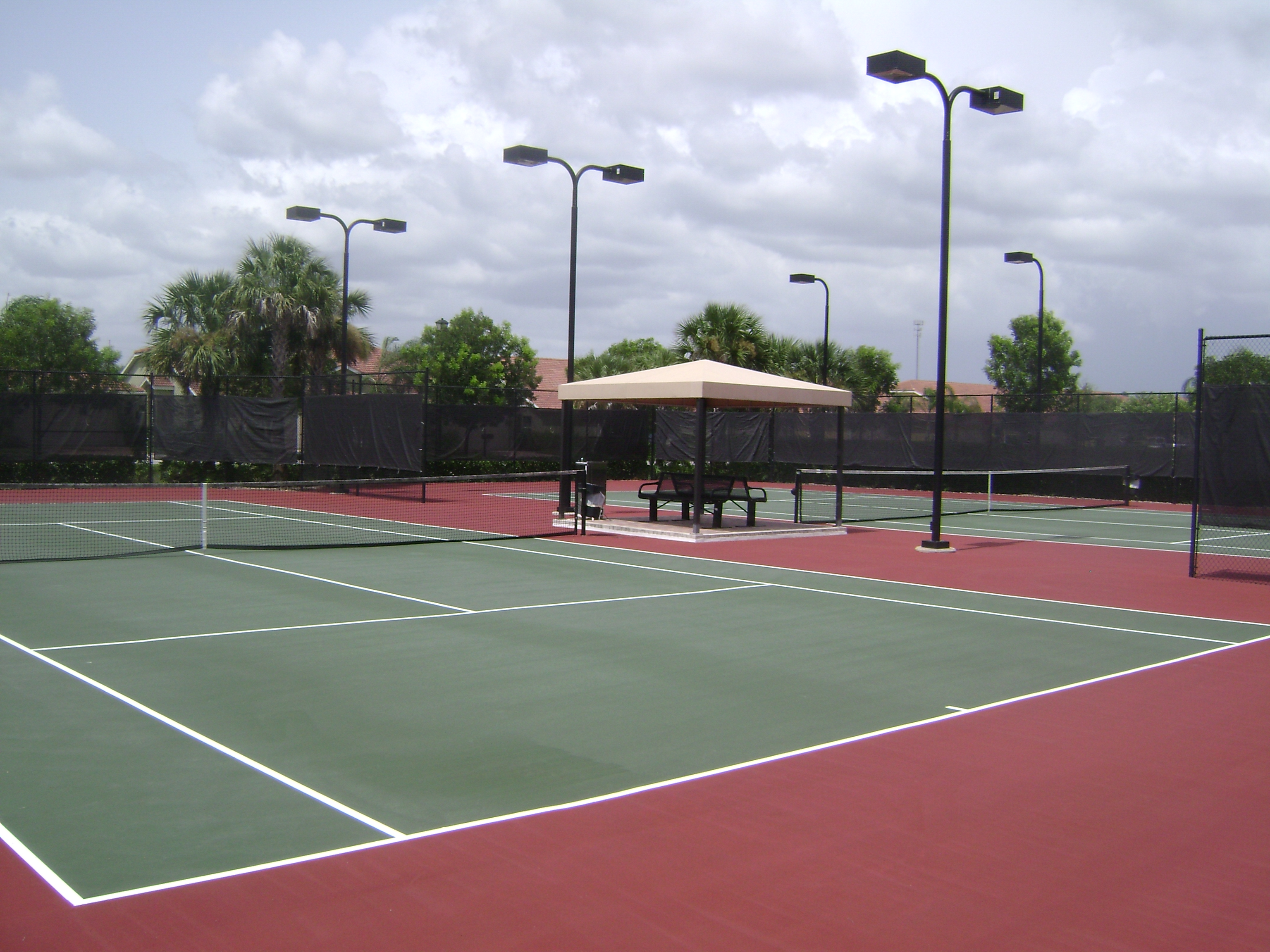 Tennis court at Tuscany Cove in Naples, Florida.