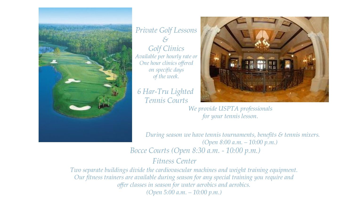 Information on Golf Lessons in Vasari in Naples, Florida.