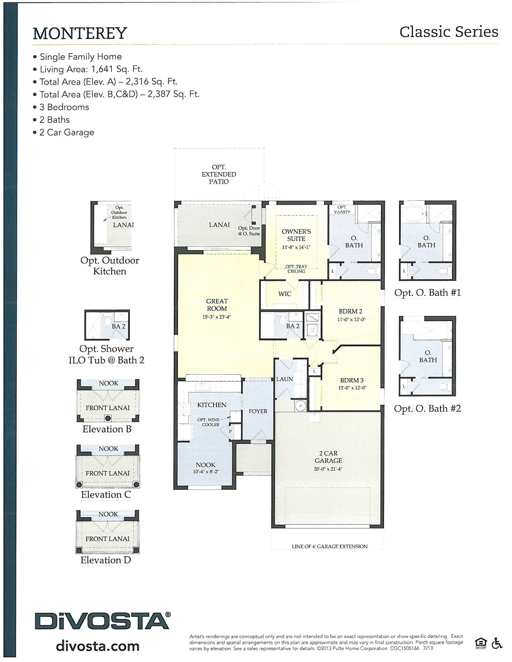 Monterey layout in Verona Walk in Naples, Florida.
