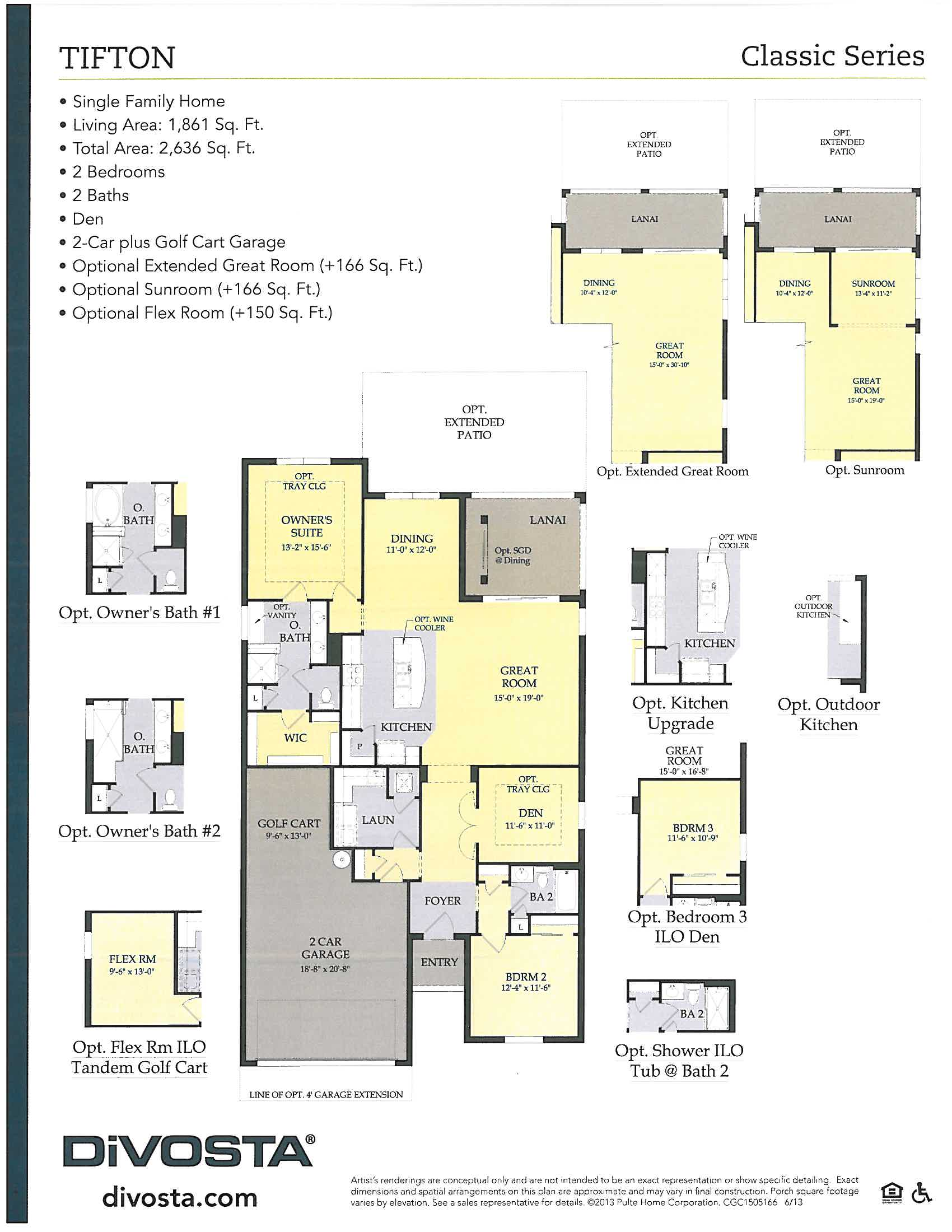 Tifton layout in Verona Walk in Naples, Florida.