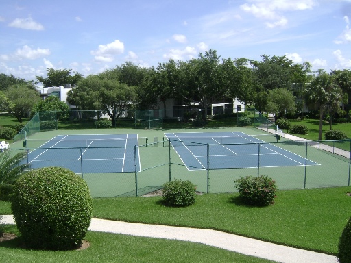 Tennis Courts at World Tennis Center in Naples, Florida.