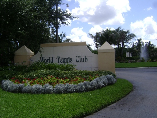 Sign At World Tennis Center In Naples, Florida.