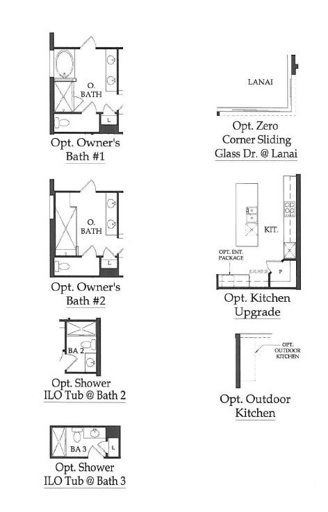 Dartmouth II options in Camden Lakes in Naples, Florida.