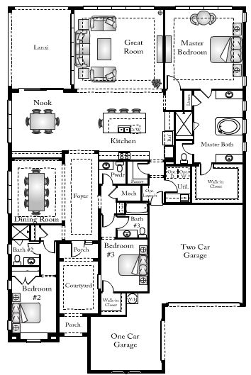 Egret floor plan in Bent Creek in Naples, Florida.