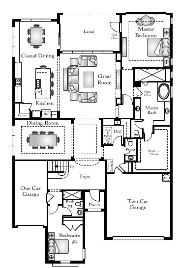Ibis floor plan in Bent Creek in Naples, Florida.