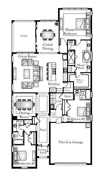 Juniper floor plan bent creek in naples fl for Juniper floor plan