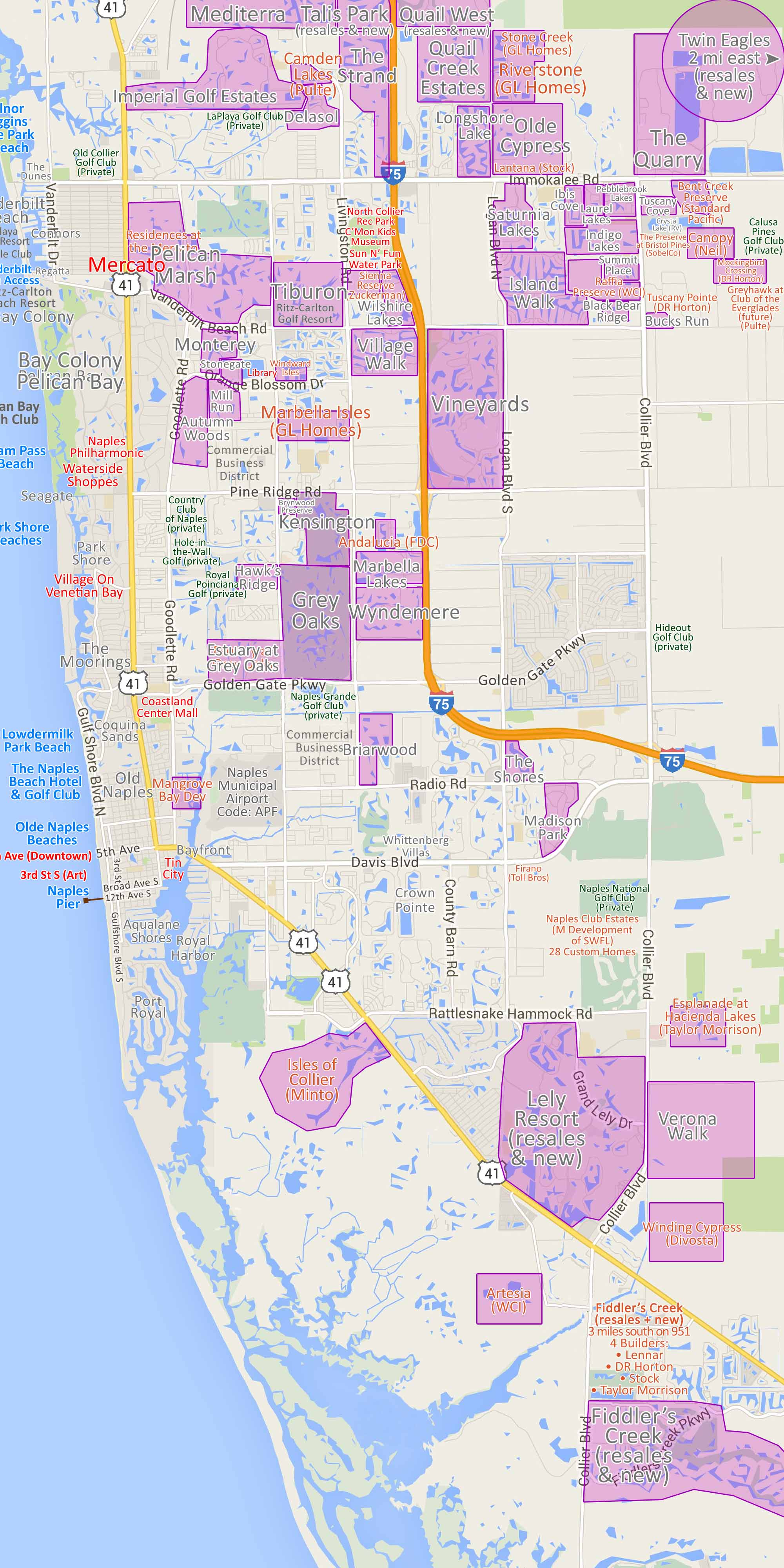 Homes Gated Community Map Of Naples Fl Single Family Homes For Sale
