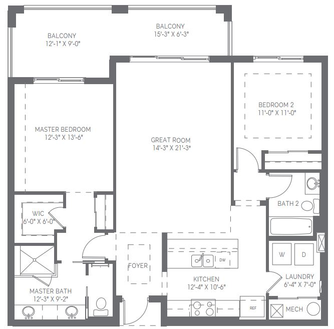 Alton floor plan in Naples Square in Naples, Florida.