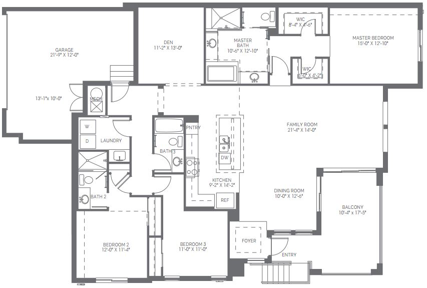 Preview for the Dartmouth floor plan in Naples Square in Naples, Florida.