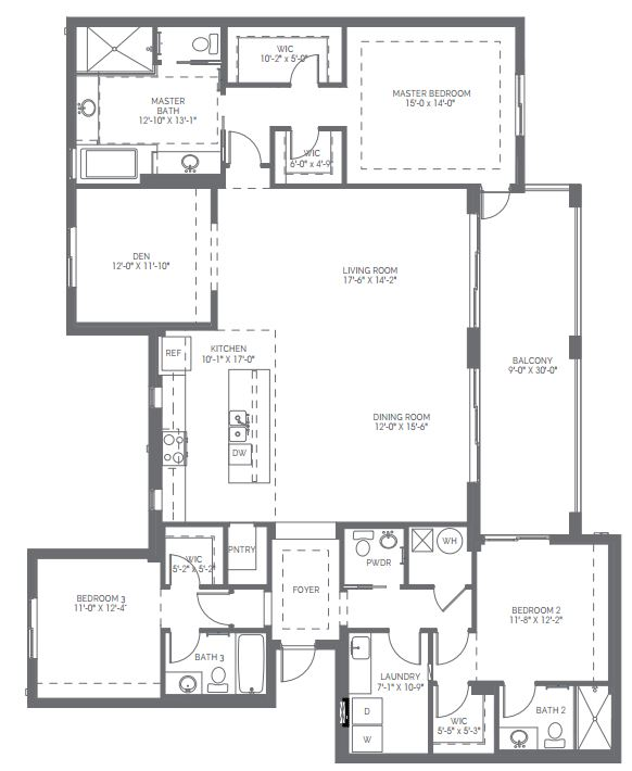 Preview of the Essex floor plan in Naples Square in Naples, Florida.
