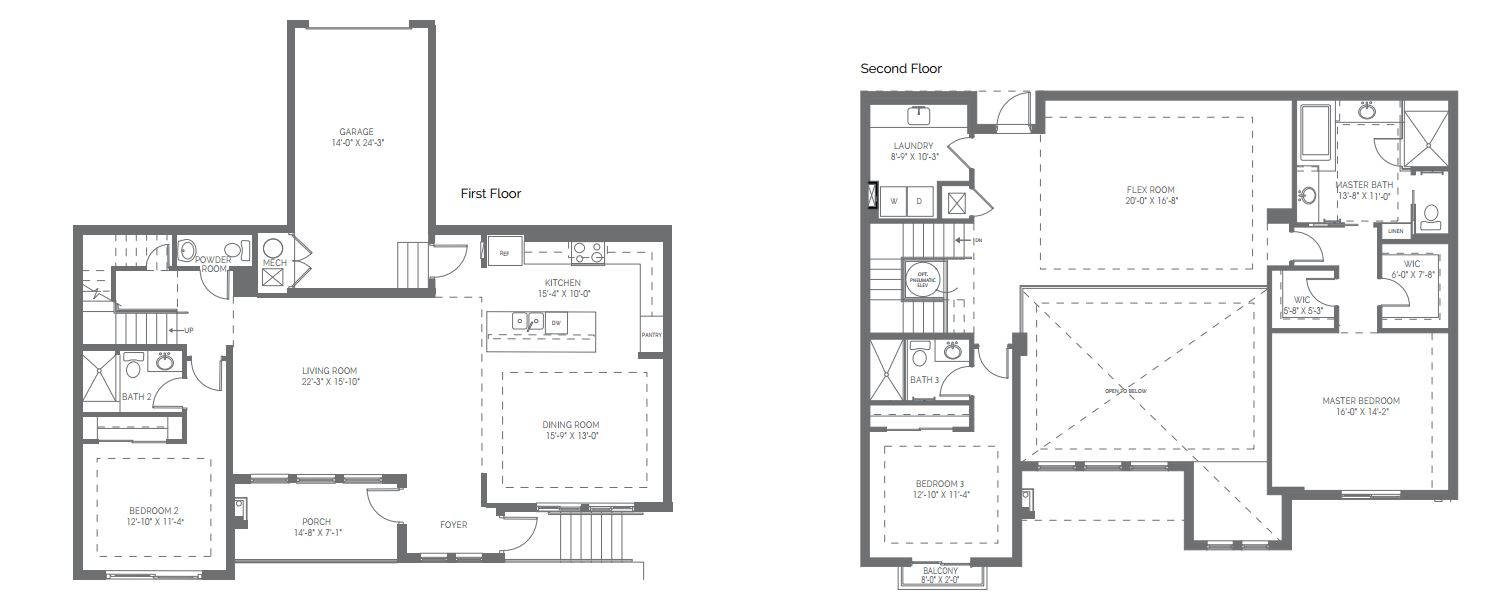 Preview of the Franklin floor plan in Naples Square in Naples, Florida.