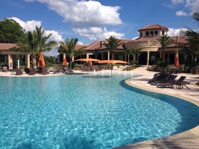 Clubhouse at Treviso Bay in Naples, Florida.