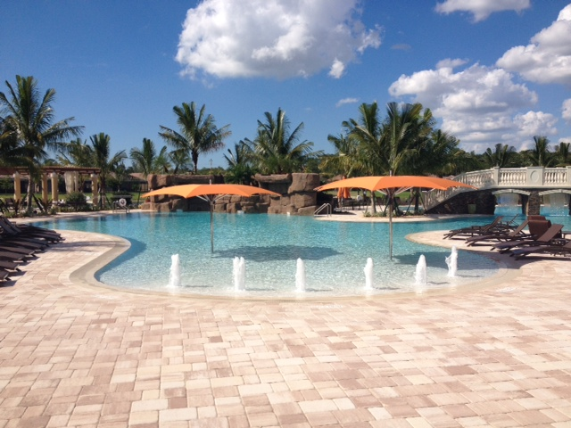 Pool at Treviso Bay in Naples, Florida.