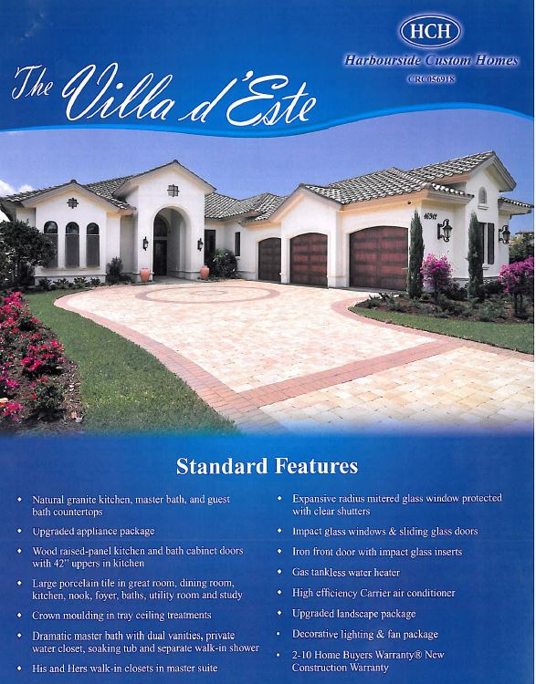 Villa d' Este model in Talis Park in Naples, Florida.