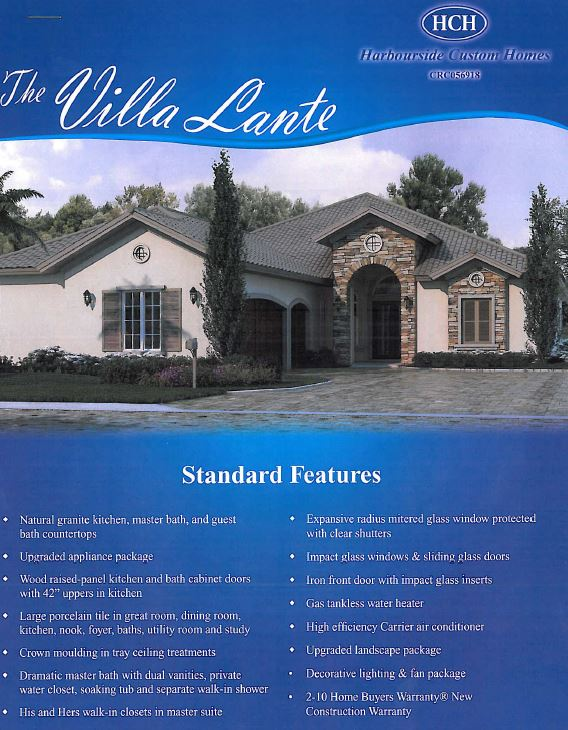 The Villa Lante model in Talis Park in Naples, Florida.